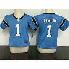 Nike Carolina Panthers 1 Cam Newton Blue Toddler Game Jersey