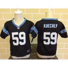 Nike Carolina Panthers 59 Luke Kuechly Black Toddler Game Jersey