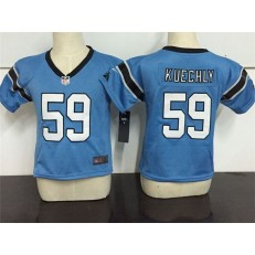 Nike Carolina Panthers 59 Luke Kuechly Blue Toddler Game Jersey