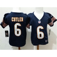 Nike Chicago Bears 6 Jay Cutler Blue Toddler Game Jersey