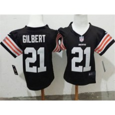 Nike Cleveland Browns 21 Justin Gilbert Brown Toddler Jersey