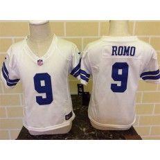 Nike Dallas Cowboys 9 Tony Romo White Toddler Game Jersey