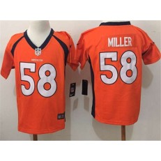 Nike Denver Broncos 58 Von Miller Orange Toddler Game Jersey