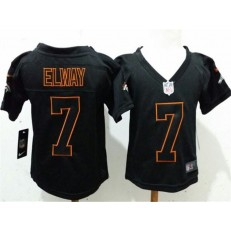 Nike Denver Broncos 7 John Elway Black Toddler Game Jersey