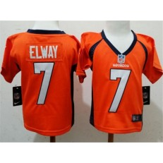Nike Denver Broncos 7 John Elway Orange Toddler Game Jersey