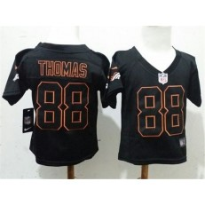 Nike Denver Broncos 88 Demaryius Thomas Black Toddler Game Jersey