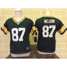 Nike Green Bay Packers 87 Jordy Nelson Green Toddler Game Jersey