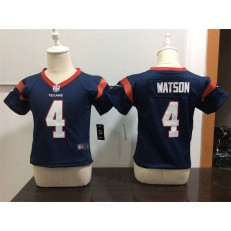 Nike Houston Texans 4 Deshaun Watson Blue Toddler Game Jersey