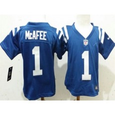 Nike Indianapolis Colts 1 Pat McAfee Blue Toddler Game Jersey