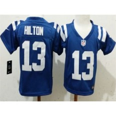 Nike Indianapolis Colts 13 T.Y. Hilton Blue Toddler Game Jersey