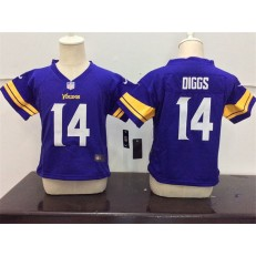 Nike Minnesota Vikings 14 Stefon Diggs Purple Toddler Game Jersey