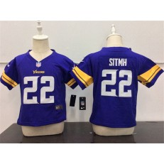 Nike Minnesota Vikings 22 Harrison Smith Purple Toddler Game Jersey