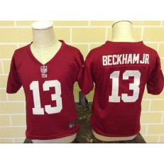 Nike New York Giants 13 Odell Beckham Jr Red Toddler Game Jersey