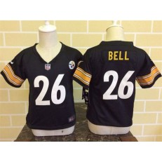 Nike Pittsburgh Steelers 26 Le'Veon Bell Black Toddler Game Jersey