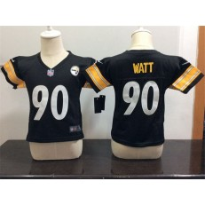 Nike Pittsburgh Steelers 90 T. J. Watt Black Toddler Game Jersey