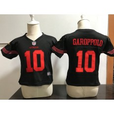Nike San Francisco 49ers 10 Jimmy Garoppolo Black Toddler Game Jersey