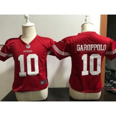 Nike San Francisco 49ers 10 Jimmy Garoppolo Red Toddler Game Jersey