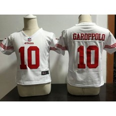 Nike San Francisco 49ers 10 Jimmy Garoppolo White Toddler Game Jersey
