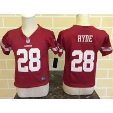 Nike San Francisco 49ers 28 Carlos Hyde Red Toddler Game Jersey