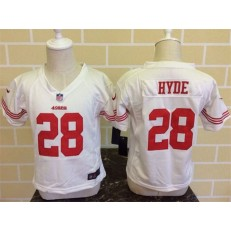 Nike San Francisco 49ers 28 Carlos Hyde White Toddler Game Jersey