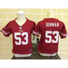 Nike San Francisco 49ers 53 NaVorro Bowman Red Toddler Game Jersey