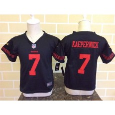 Nike San Francisco 49ers 7 Colin Kaepernick Black Toddler Game Jersey