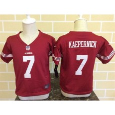 Nike San Francisco 49ers 7 Colin Kaepernick Red Toddler Game Jersey
