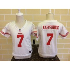 Nike San Francisco 49ers 7 Colin Kaepernick White Toddler Game Jersey