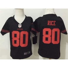 Nike San Francisco 49ers 80 Jerry Rice Black Toddler Game Jersey