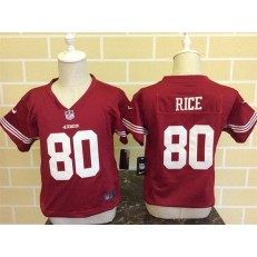 Nike San Francisco 49ers 80 Jerry Rice Red Toddler Game Jersey