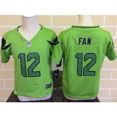 Nike Seattle Seahawks 12 Fan Green Toddler Game Jersey