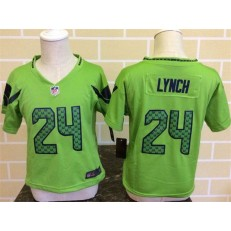 Nike Seattle Seahawks 24 Marshawn Lynch Green Toddler Game Jersey