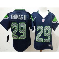 Nike Seattle Seahawks 29 Earl Thomas III Blue Toddler Game Jersey