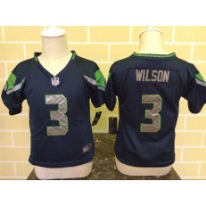 Nike Seattle Seahawks 3 Russell Wilson Blue Toddler Game Jersey