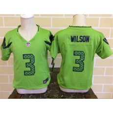 Nike Seattle Seahawks 3 Russell Wilson Green Toddler Game Jersey