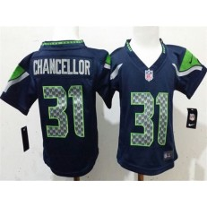 Nike Seattle Seahawks 31 Kam Chancellor Blue Toddler Game Jersey