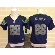 Nike Seattle Seahawks 88 Jimmy Graham Blue Toddler Game Jersey