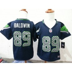 Nike Seattle Seahawks 89 Doug Baldwin Blue Toddler Game Jersey