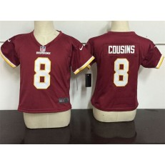 Nike Washington Redskins 8 Kirk Cousins Red Toddler Game Jersey