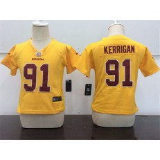 Nike Washington Redskins 91 Ryan Kerrigan Yellow Toddler Game Jersey