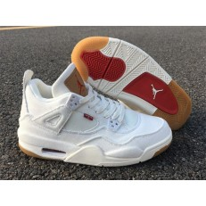 AIR JORDAN 4 RETRO HI GS LEVIS NRG WHITE DENIM AO2571-100