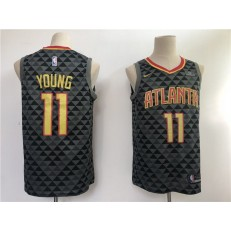 Atlanta Hawks 11 Trae Young Black Swingman Men Jersey