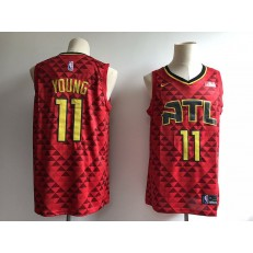 Atlanta Hawks 11 Trae Young Red Swingman Men Jersey