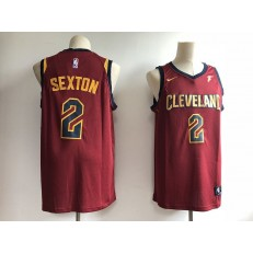 Cleveland Cavaliers 2 Collin Sexton Red Nike Swingman Men Jersey