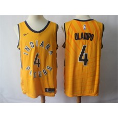Indiana Pacers 4 Victor Oladipo Gold Nike Swingman Men Jersey