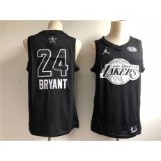 Los Angeles Lakers 24 Kobe Bryant Black NBA Jordan Swingman 2018 All-Star Game Men Jersey