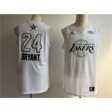 Los Angeles Lakers 24 Kobe Bryant White NBA Jordan Swingman 2018 All-Star Game Men Jersey