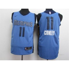 Memphis Grizzlies 11 Mike Conley Light Blue Nike Swingman Men Jersey