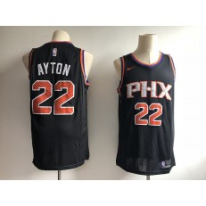 Phoenix Suns 22 Deandre Ayton Black Without The Sponsor Logo Nike Swingman Men Jersey