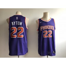 Phoenix Suns 22 Deandre Ayton Purple Without The Sponsor Logo Nike Swingman Men Jersey